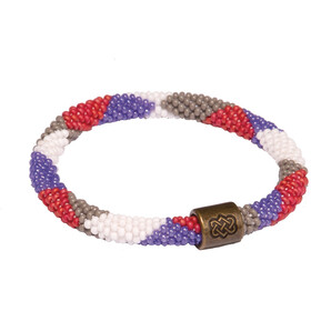Sherpa Mayalu Dhaka Roll On Armband, katha white